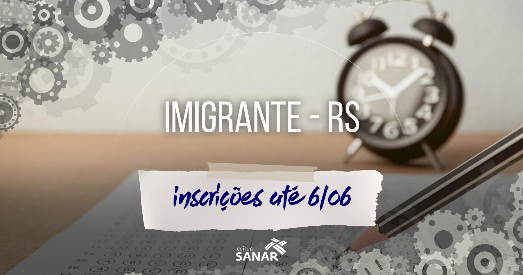 Processo Seletivo: Imigrante (RS) contrata Farmacêutico