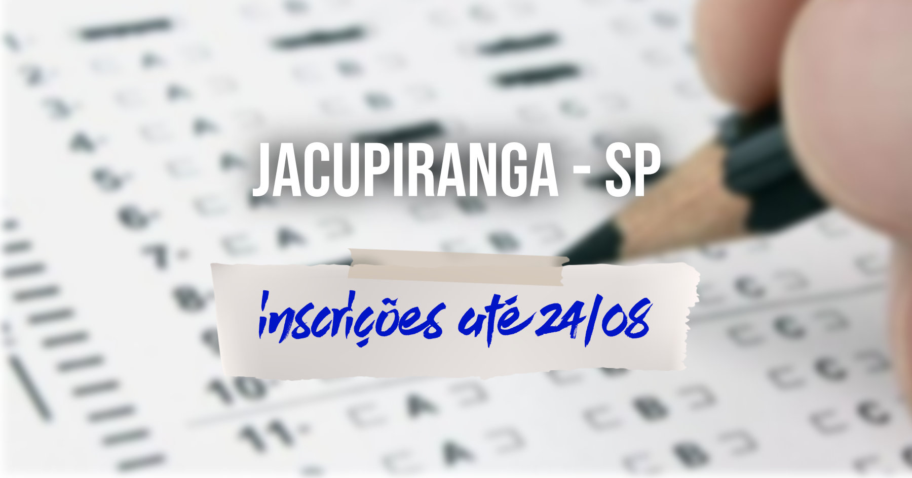 Concurso   Jacupiranga (SP) divulga edital