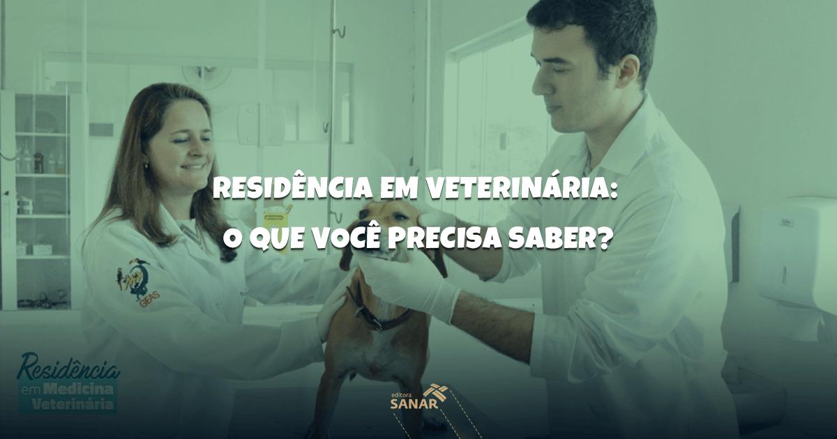 Saiba tudo sobre Residência em Medicina Veterinária