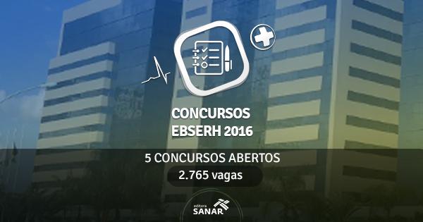 EBSERH está com cinco concursos abertos e oferece 1.117 vagas em Saúde