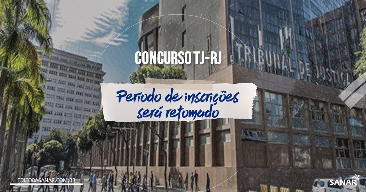 Concurso TJ-RJ: Período de inscrições será reaberto após pandemia