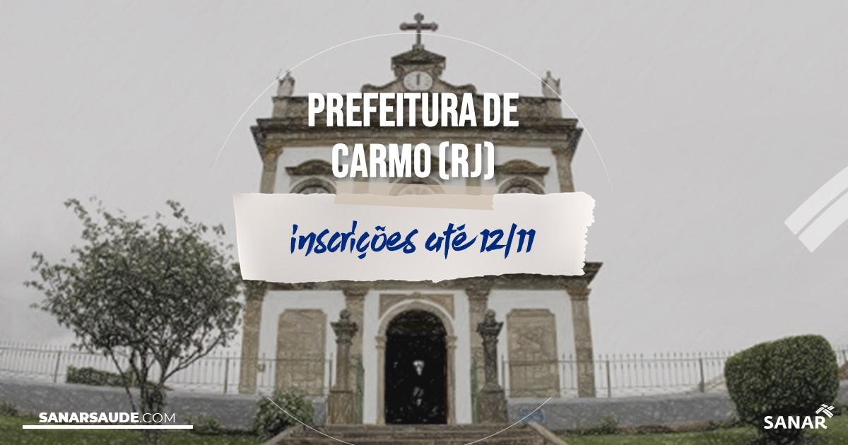 Concurso de Carmo - RJ: na Saúde, salários de até R$8 mil!