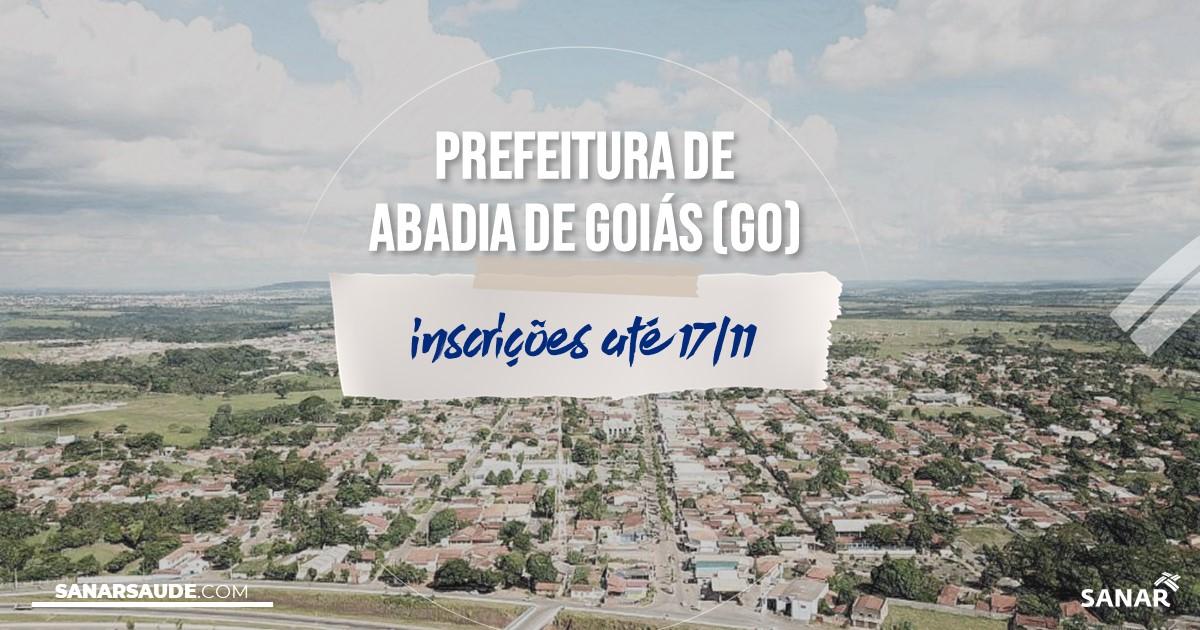 Concurso de Abadia de Goiás - GO: vagas na Saúde!