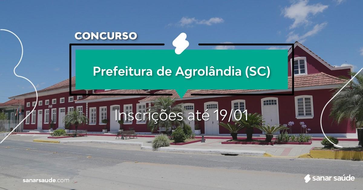 Concurso de Agrolândia - SC: vagas na Saúde!