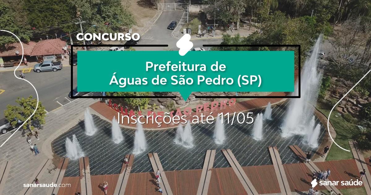 Concurso de Águas de São Pedro - SP:  vagas na Saúde para enfermeiros!