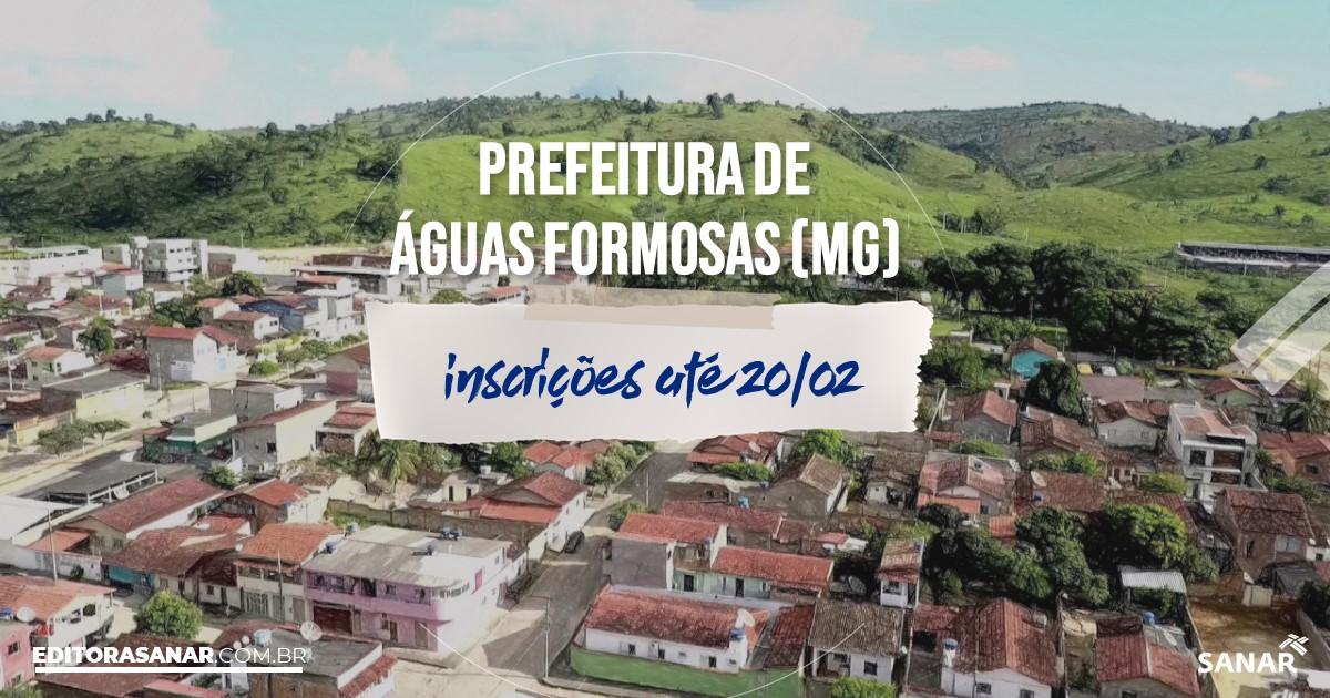 Concurso de Águas Formosas - MG: vaga na Saúde para enfermeiro!