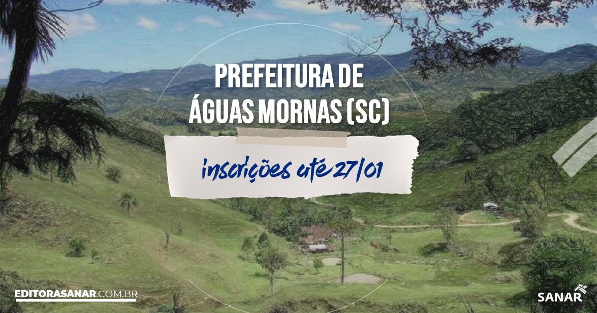 Concurso de Águas Mornas - SC: salários de até R$12 mil na Saúde!