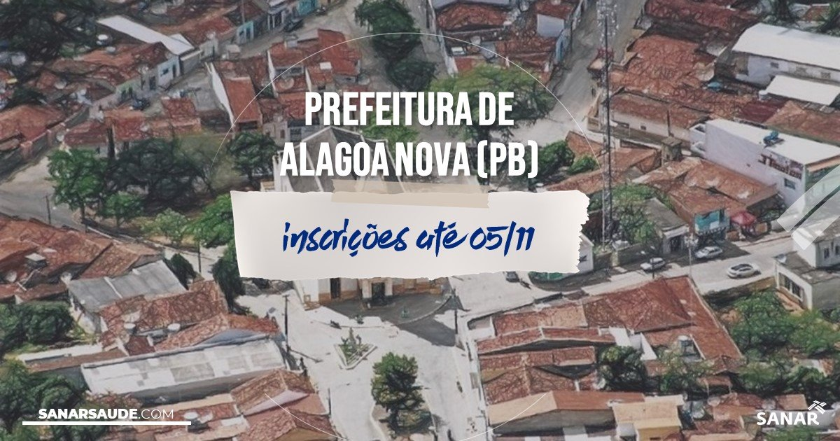 Concurso de Alagoa Nova - PB: vagas na Saúde!