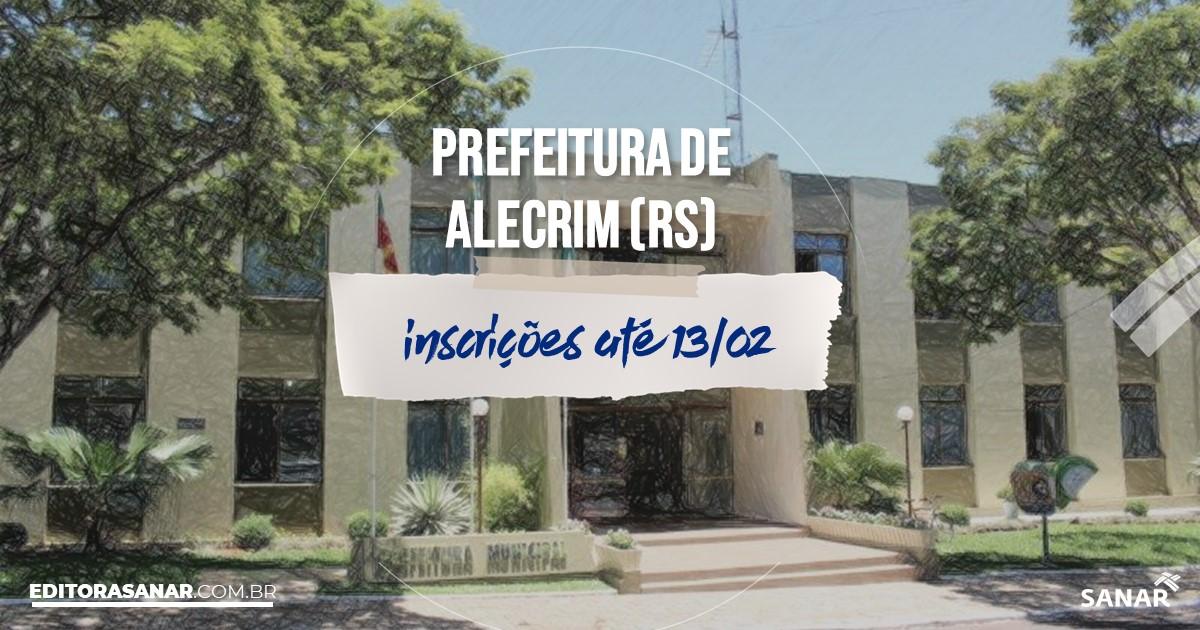 Concurso de Alecrim - RS: vagas na Saúde para enfermeiros!