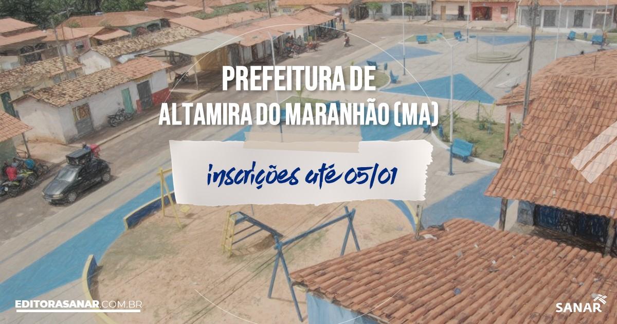 Concurso de Altamira do Maranhão - MA: cargos na Saúde!