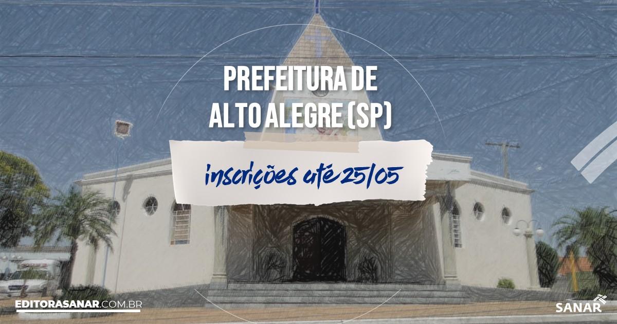 Concurso de Alto Alegre - SP: na Saúde, vaga para médico!