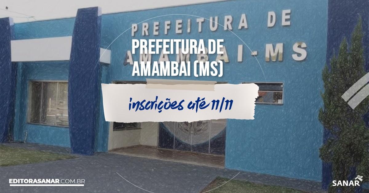 Concurso de Amambai - MS: cargos na Saúde!
