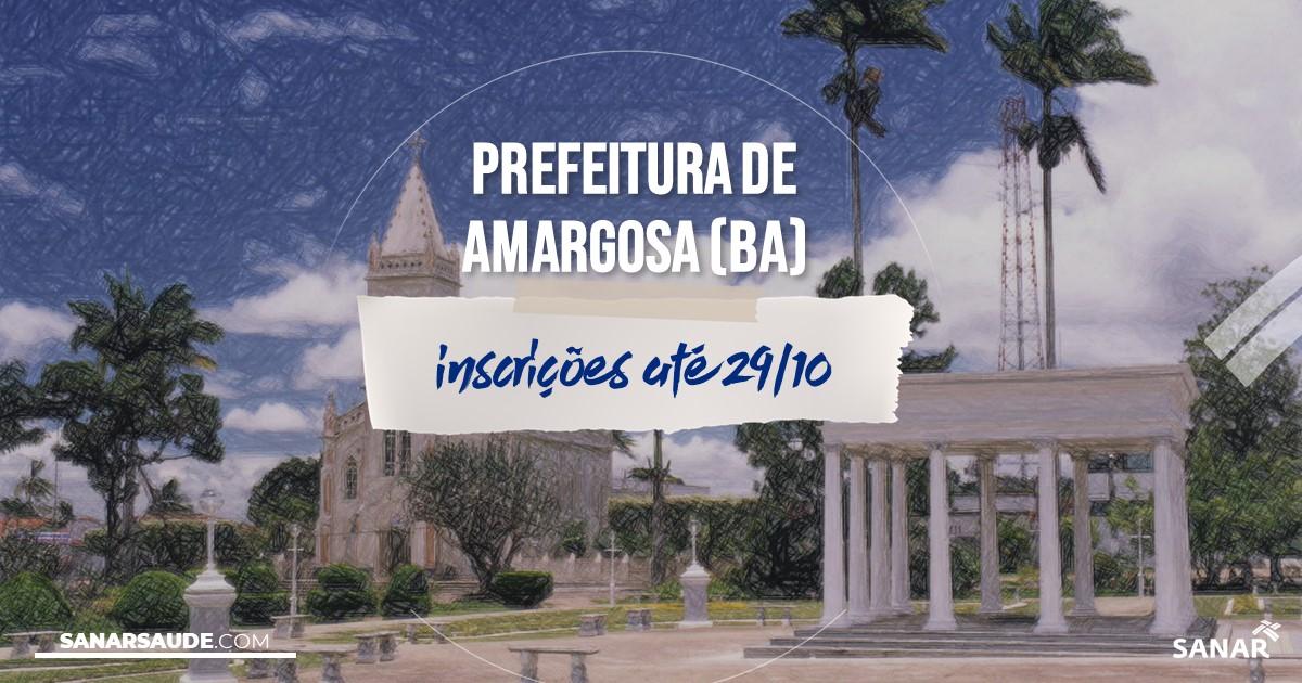 Concurso de Amargosa - BA: salários na Saúde de até R$9,4 mil!