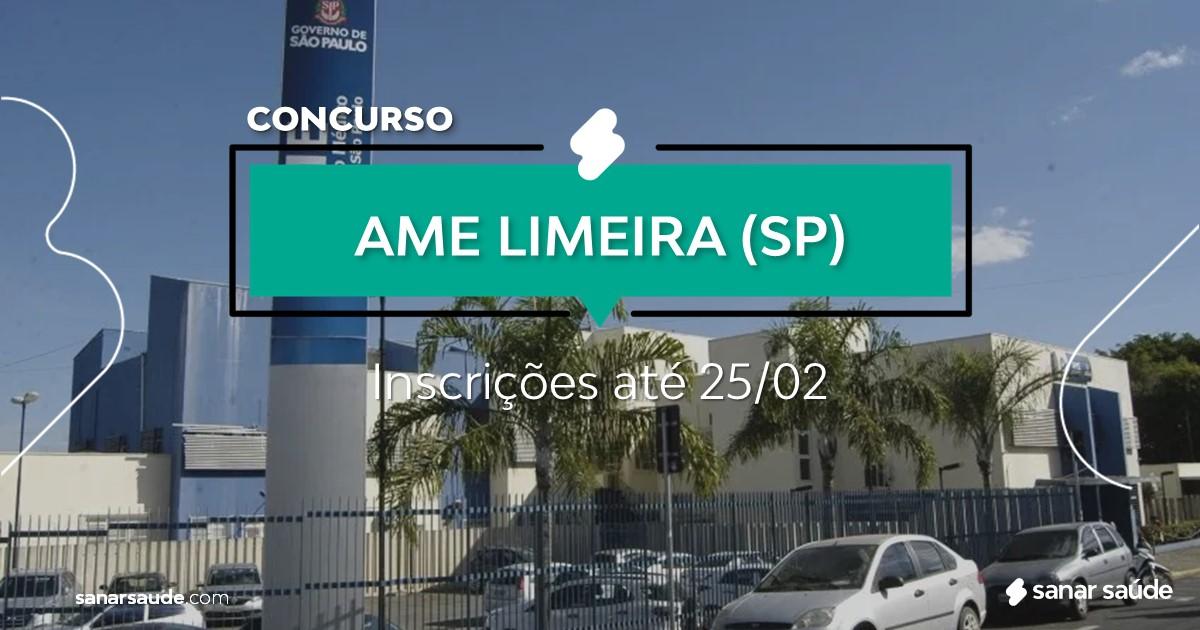 Concurso do AME LIMEIRA - SP: salário na saúde de R$14 mil!