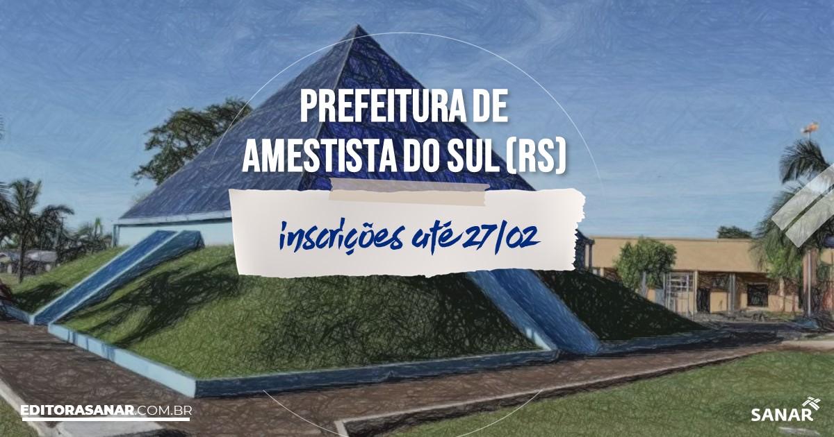 Concurso de Ametista do Sul - RS: salários de até R$10 mil na Saúde!