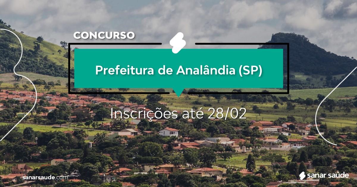 Concurso de Analândia - SP: vagas na Saúde!