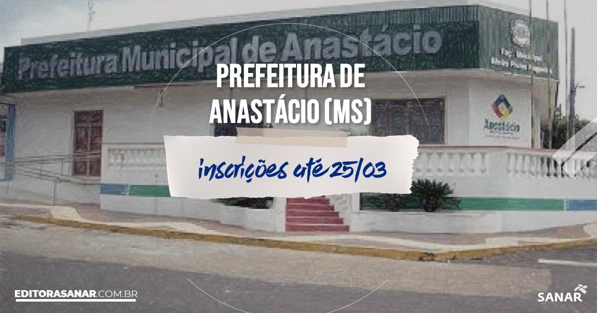 Concurso de Anastácio - MS: vaga na Saúde para veterinário!