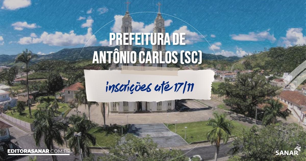 Concurso de Antônio Carlos - SC: salários até R$8 mil na Saúde!