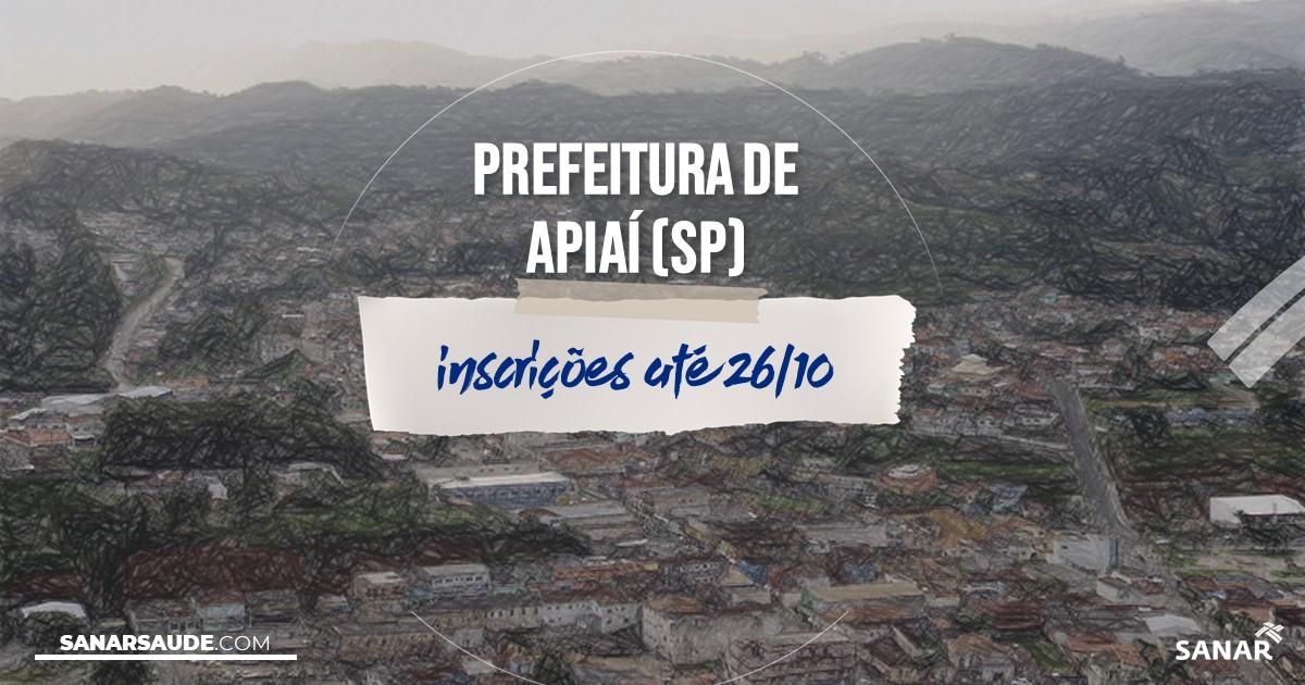 Concurso de Apiaí - SP: vagas na Saúde!