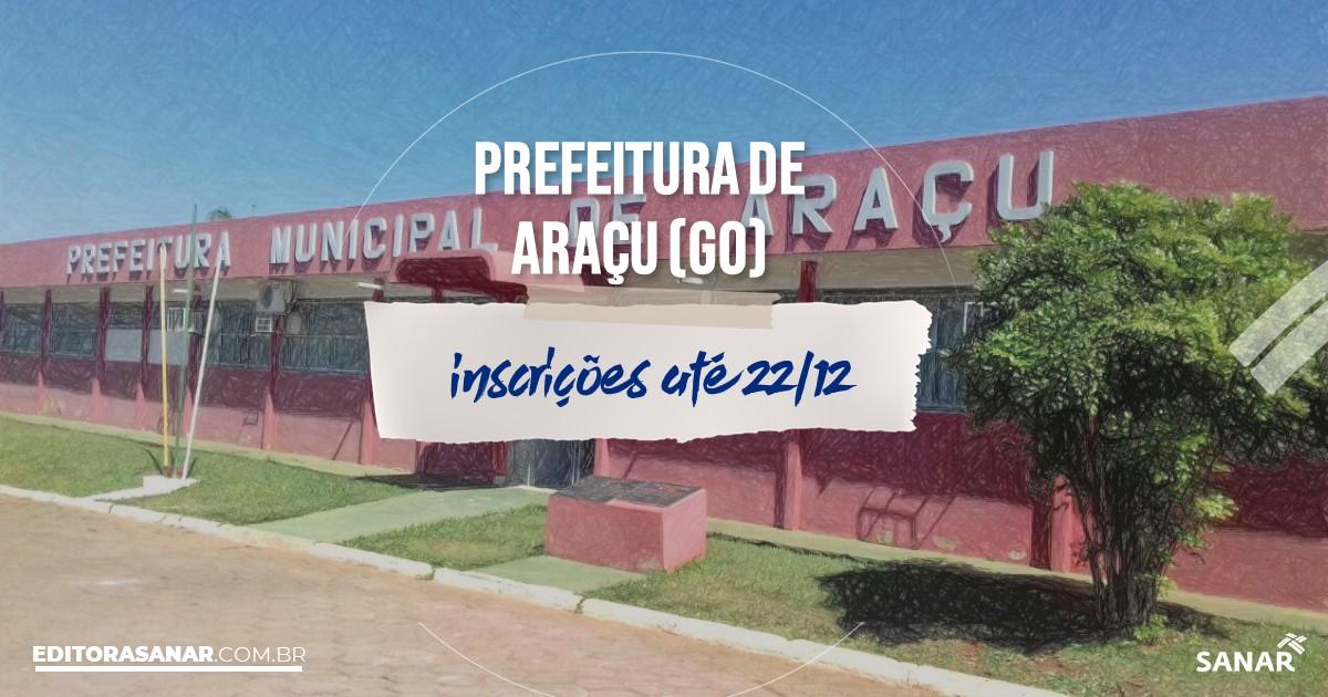 Concurso de Araçu - GO: vagas imediatas na Saúde!