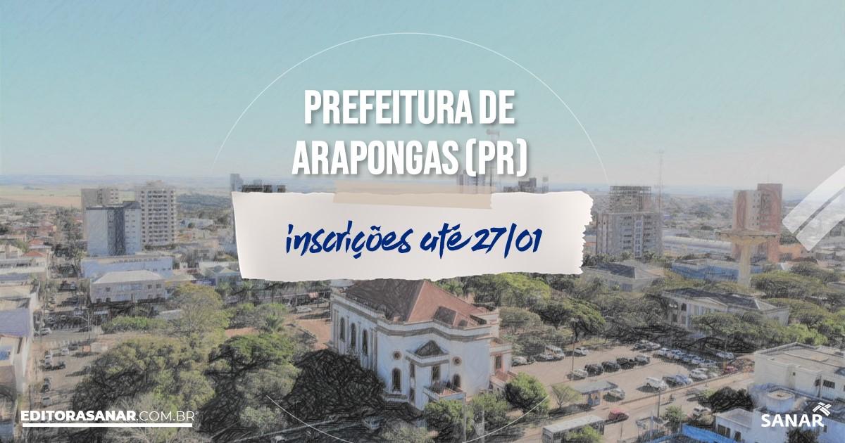 Concurso de Arapongas - PR: salários de até R$15 mil na Saúde!