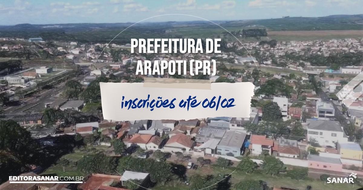 Concurso de Arapoti - PR: salários na Saúde de até R$14 mil!
