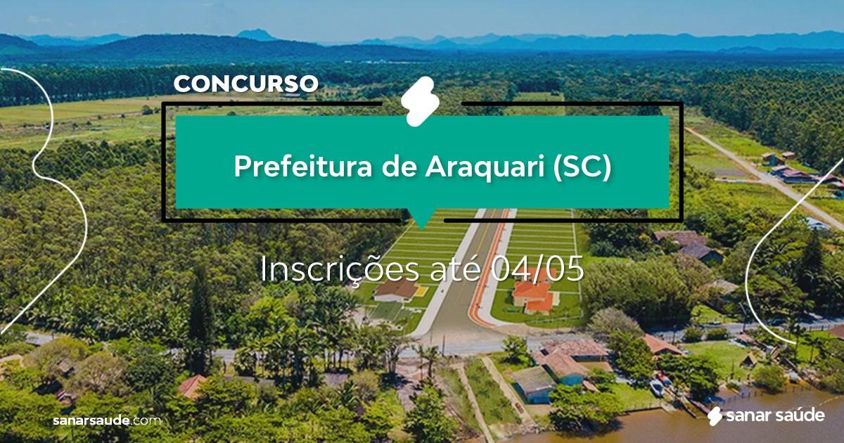 Concurso de Araquari - SC: salários até R$14 mil na Saúde!
