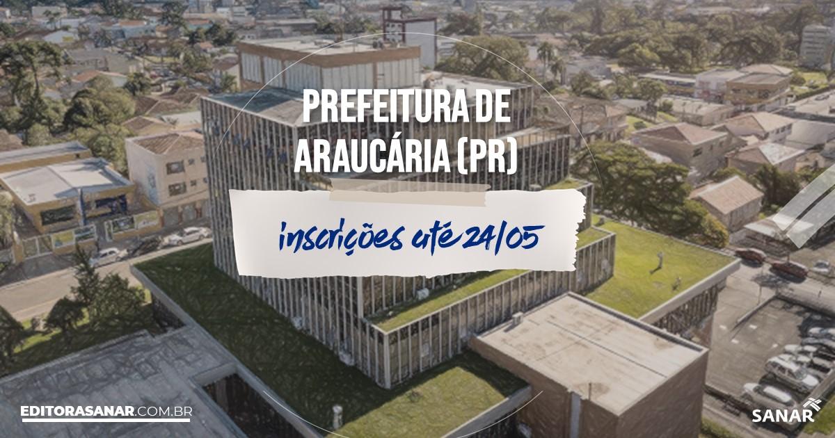 Concurso de Araucária - PR: salários de até R$13 mil na Saúde!