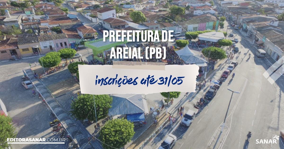Concurso de Areial - PB: cargos na Saúde!