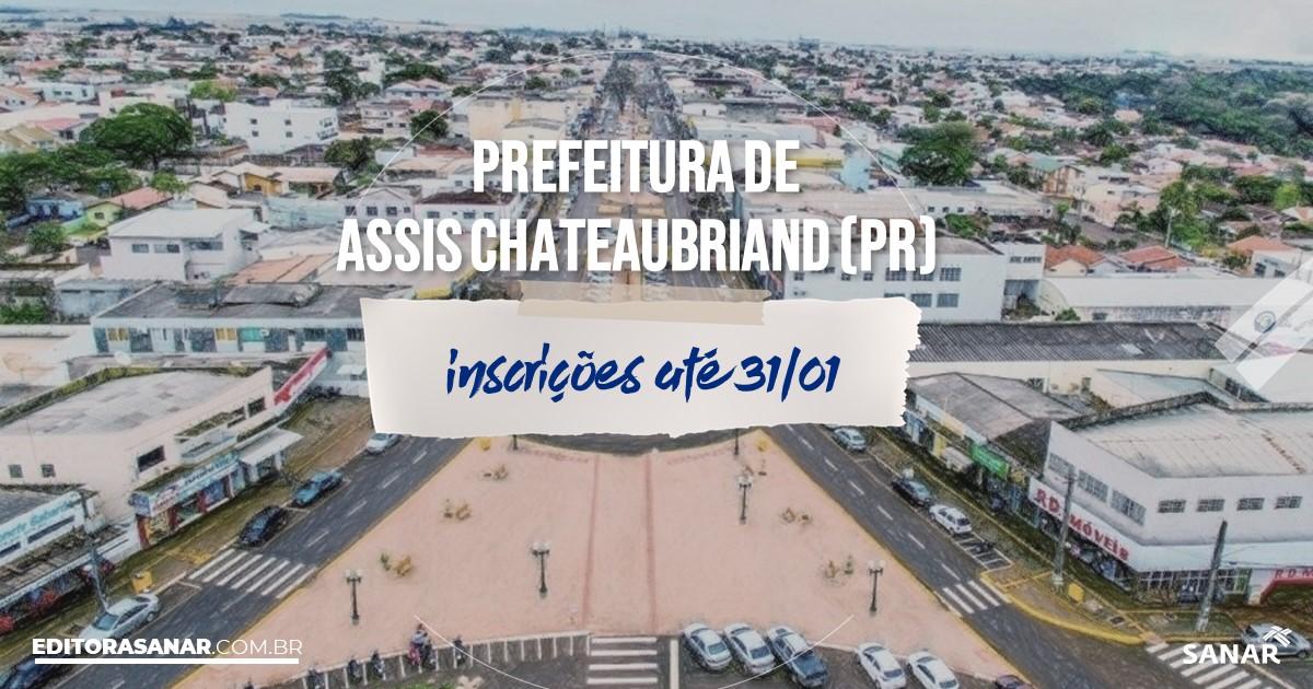 Concurso de Assis Chateaubriand - PR: salários de até R$18 mil na Saúde!