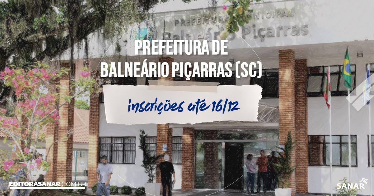 Concurso de Balneário Piçarras - SC: salários na Saúde de até R$15 mil!
