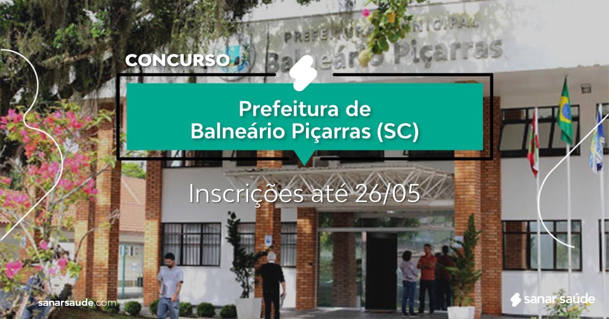 Concurso de Balneário Piçarras - SC: cargos na Saúde!