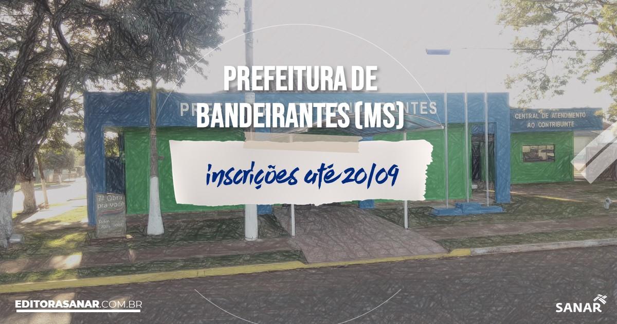 Concurso de Bandeirantes - MS: salários na Saúde de até R$12,4 mil!