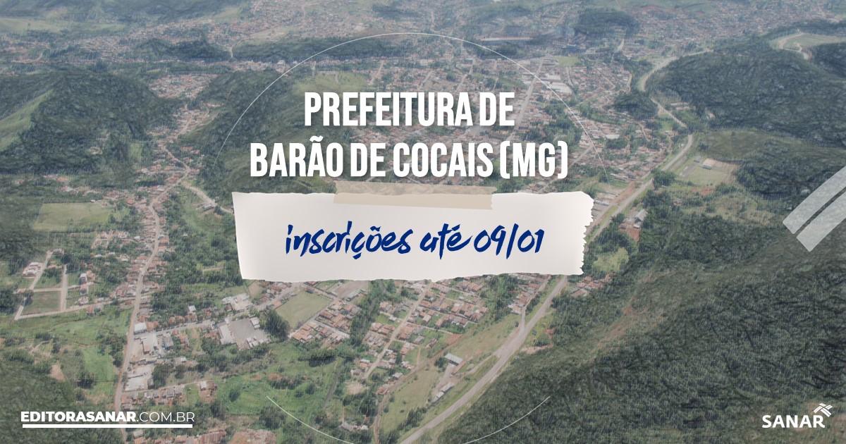 Concurso de Barão de Cocais - MG: vagas imediatas na Saúde!