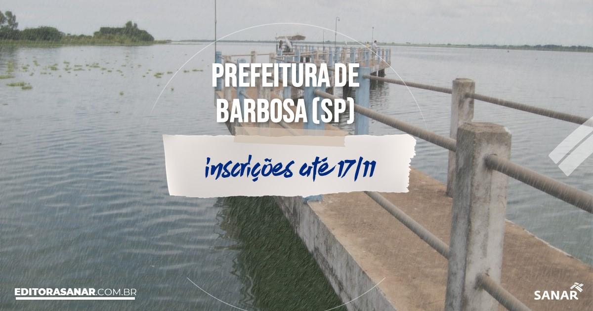 Concurso de Barbosa - SP: vagas imediatas na Saúde!