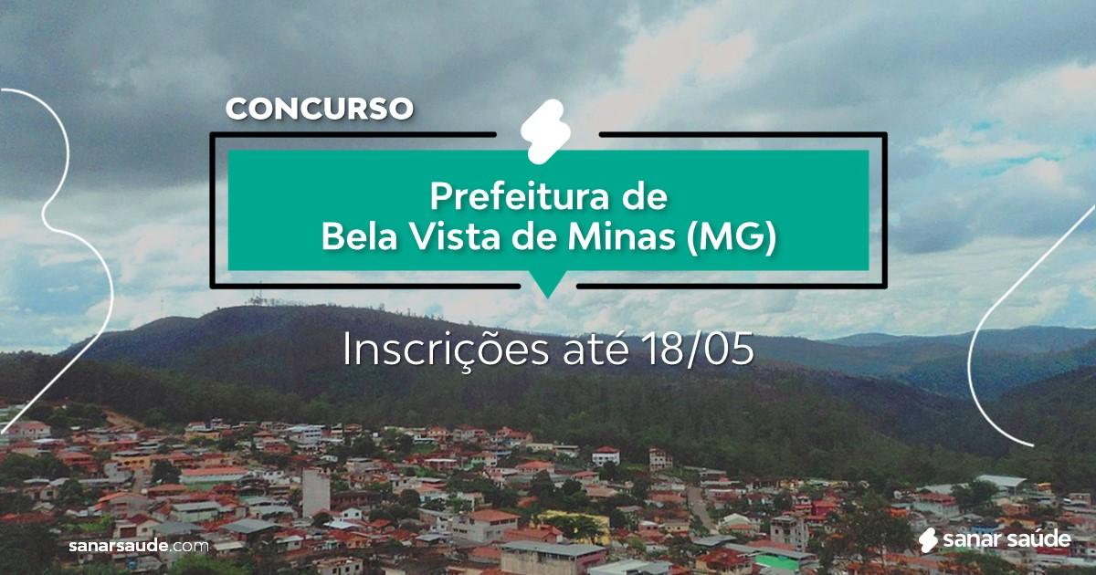 Concurso de Bela Vista de Minas - MG: vagas imediatas na Saúde!