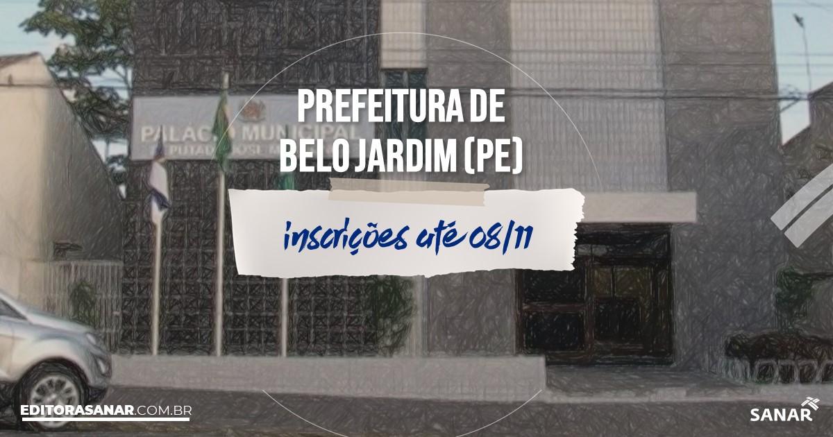 Concurso de Belo Jardim - PE: vagas na Saúde!