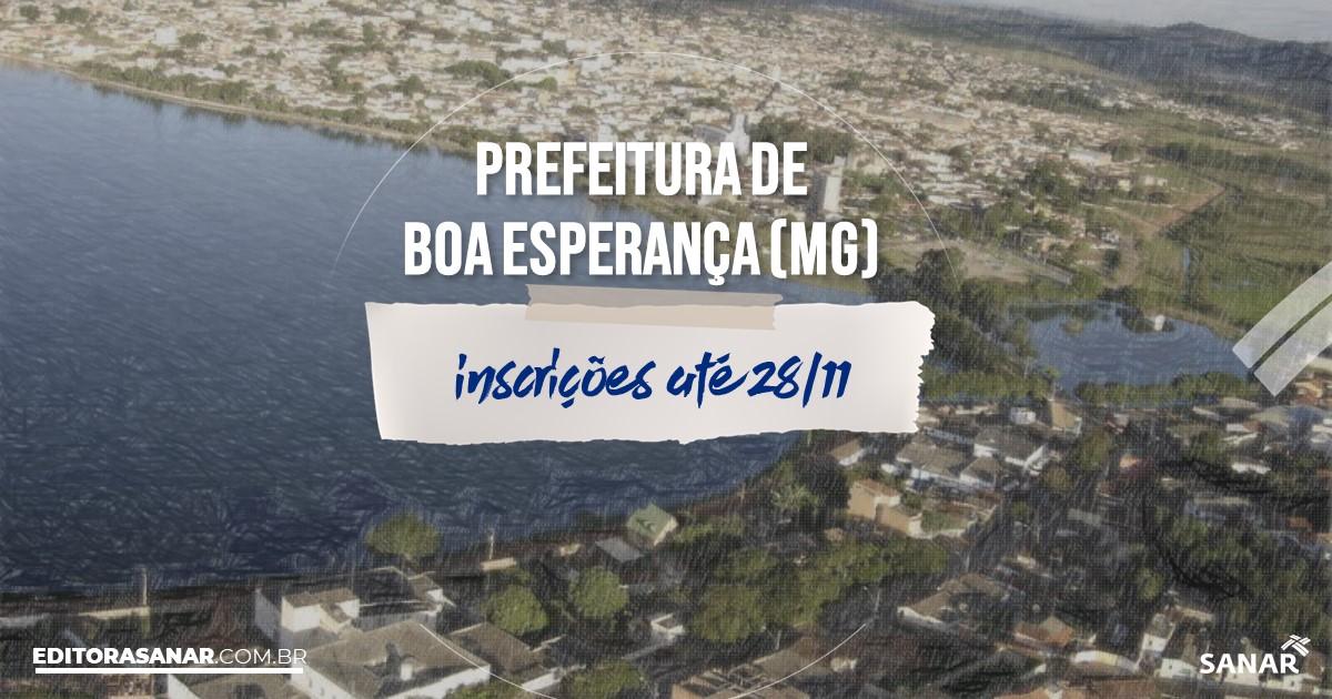Concurso de Boa Esperança - MG: cargos na Saúde!