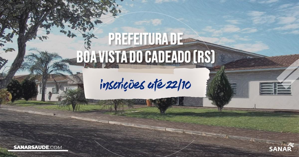 Concurso de Boa Vista do Cadeado - RS: vaga na Saúde para médico!