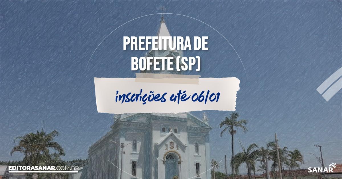 Concurso de Bofete - SP: vagas imediatas na Saúde!