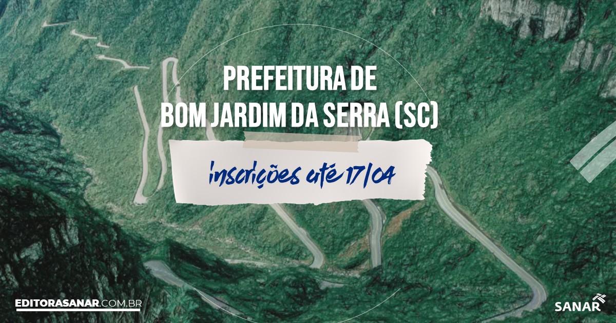 Concurso de Bom Jardim da Serra - SC: salários de até R$14 mil na Saúde!
