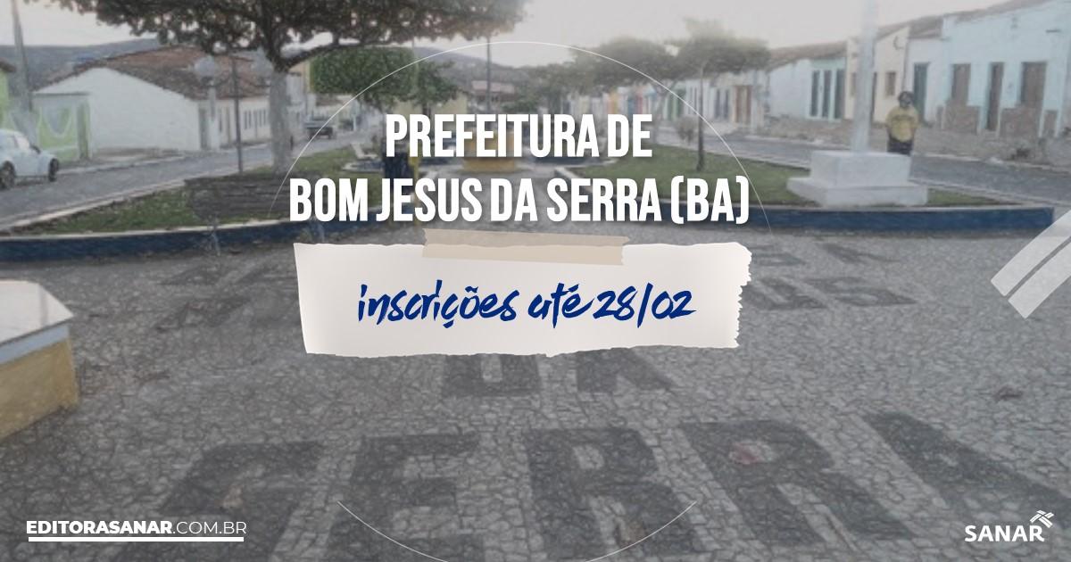 Concurso de Bom Jesus da Serra - BA: vagas na Saúde!