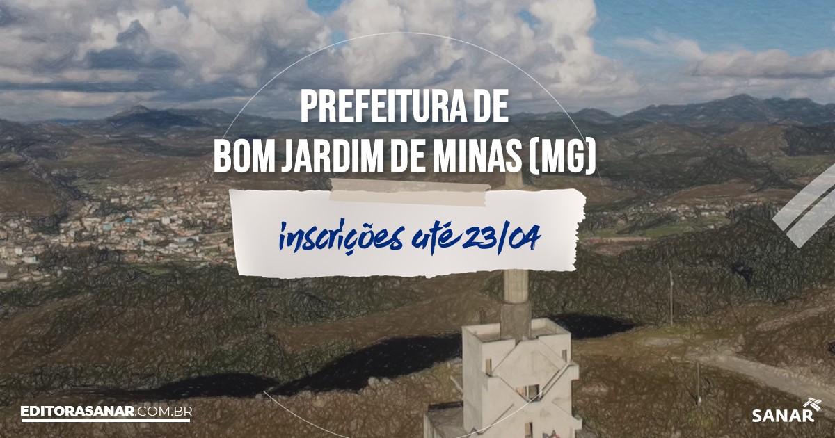 Concurso de Bom Jardim de Minas - MG: vagas na Saúde!