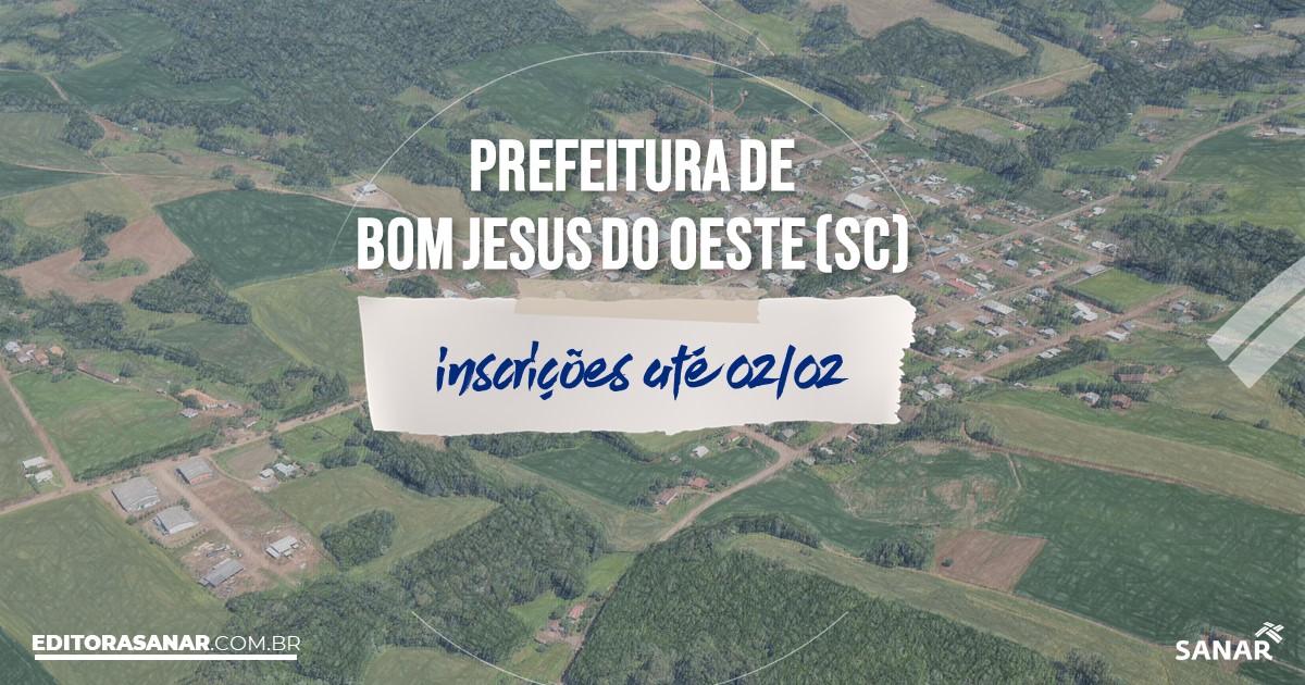 Concurso de Bom Jesus do Oeste - SC: vagas na Saúde para psicólogos!