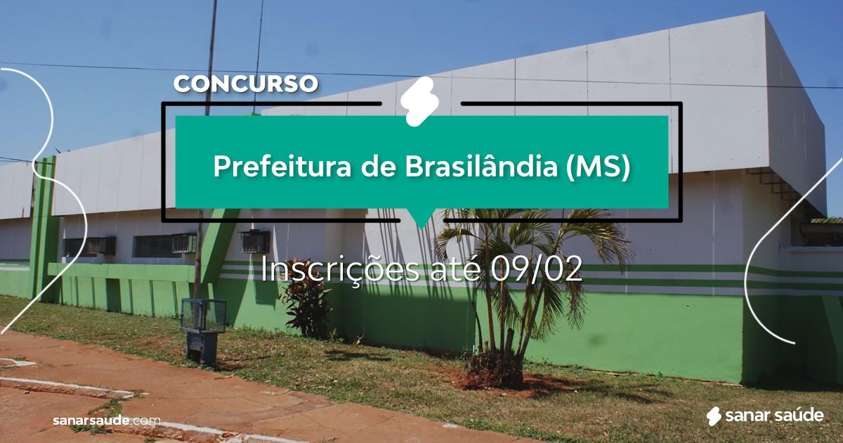 Concurso de Brasilândia - MS:  vagas na Saúde!