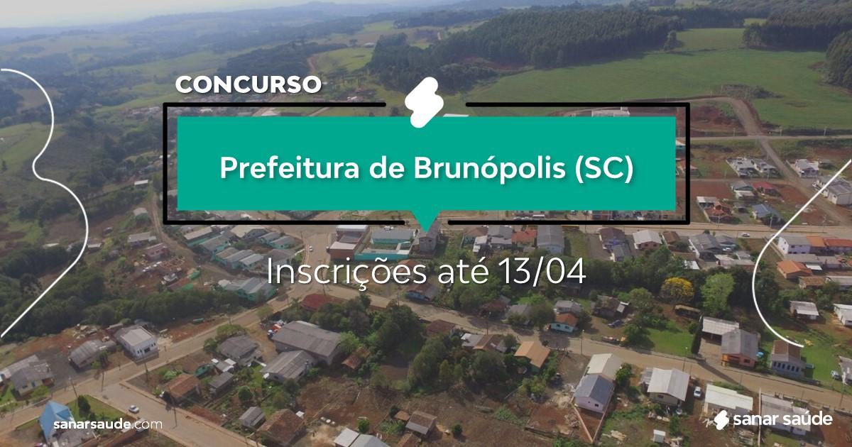 Concurso de Brunópolis - SC: vagas imediatas na Saúde!