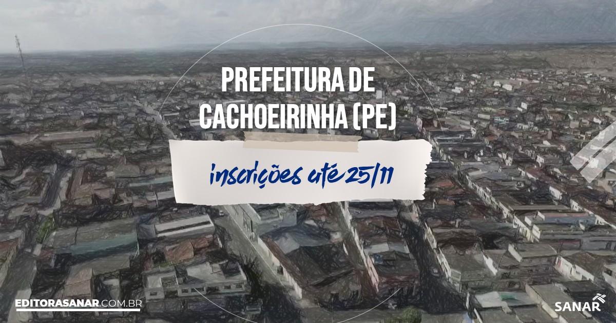 Concurso de Cachoeirinha - PE: vagas na Saúde!