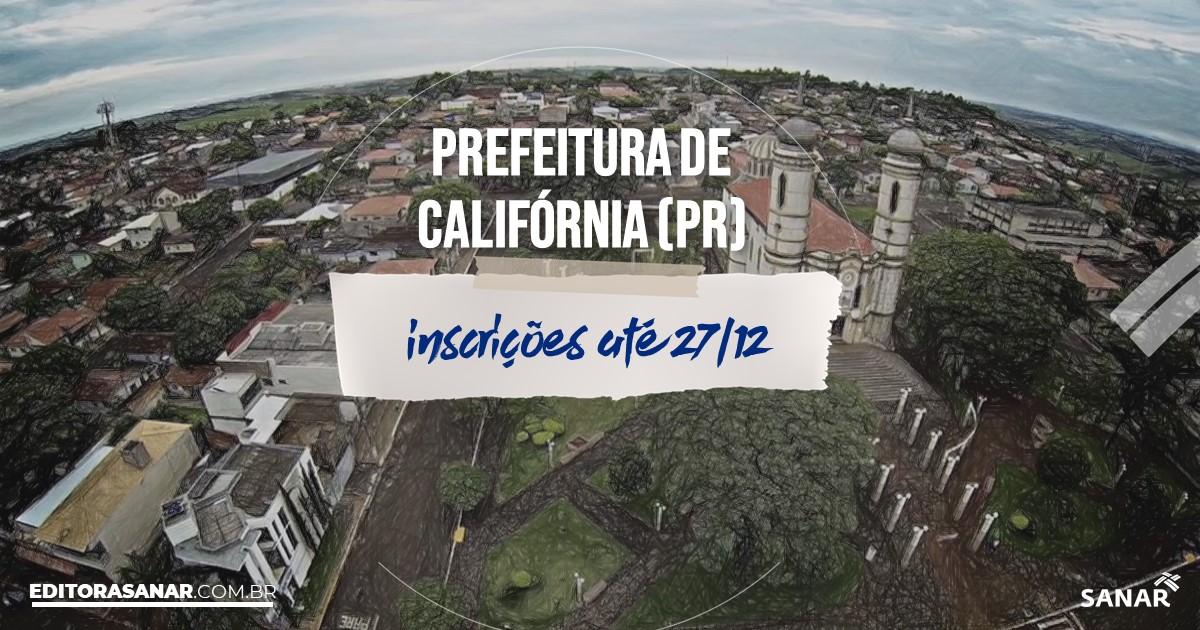 Concurso de Califórnia - PR: vagas na Saúde!