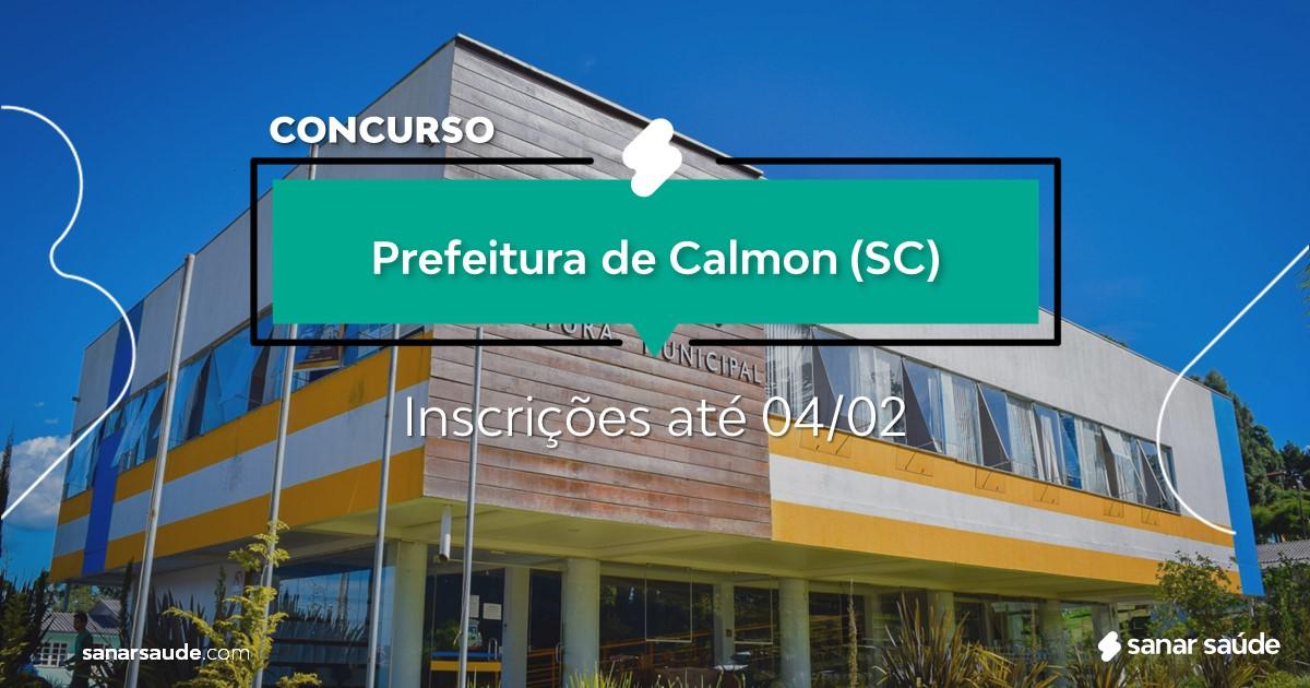 Concurso de Calmon - SC: cargos na Saúde!