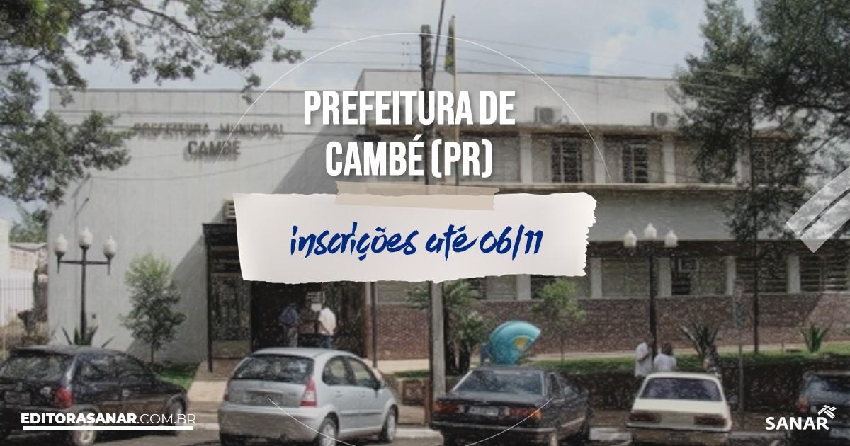 Concurso de Cambé - PR: na Saúde, salários até R$9 mil!